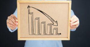 衰退のグラフ